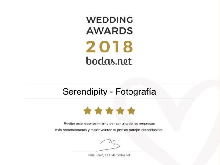 Ganadores Wedding Awards 2018 de Bodas.net